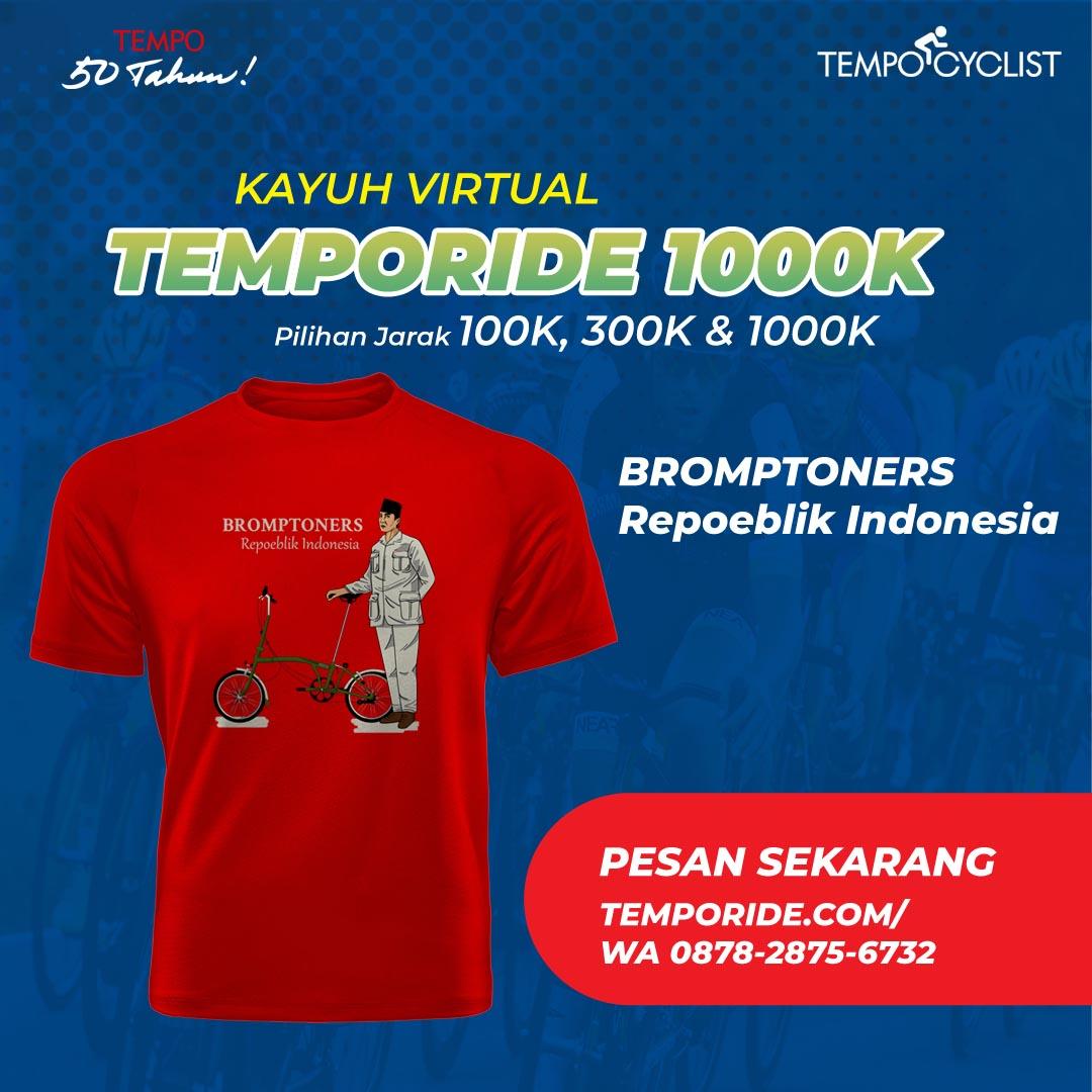 T-shirt Bromptoners Repoeblik Indonesia