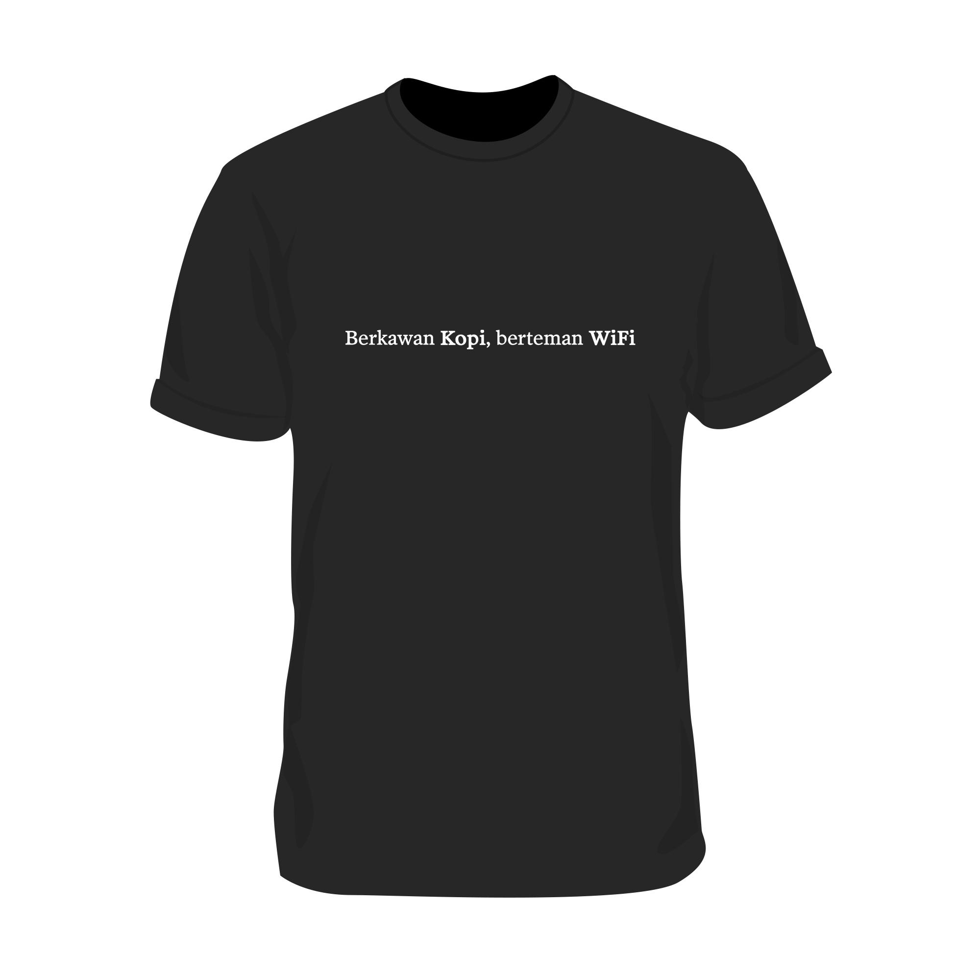 T-Shirt Teman Kopi (Hitam)