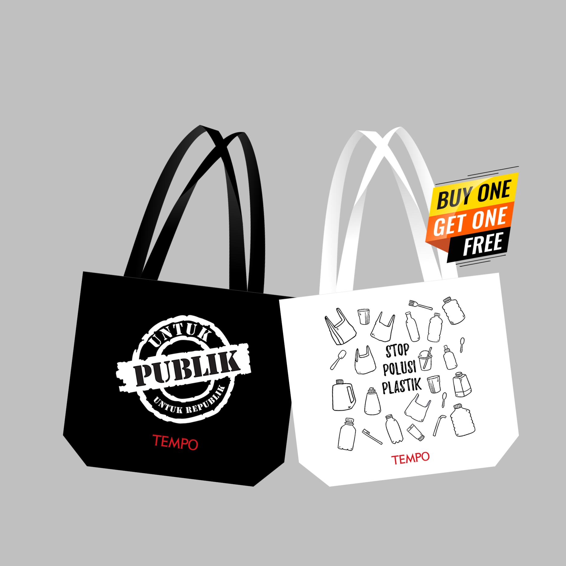 TOTE BAG STOP POLUSI PLASTIK (FREE TOTE BAG UNTUK PUBLIK UNTUK REPUBLIK)