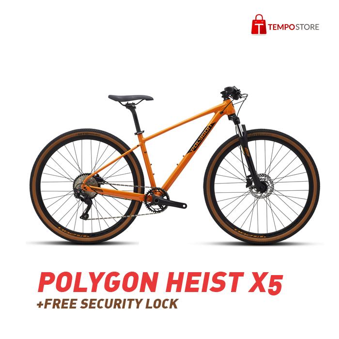 Sepeda Polygon Heist X5 (BONUS KUNCI PENGAMAN + TEMPO DIGITAL PLATINUM 1 BULAN)