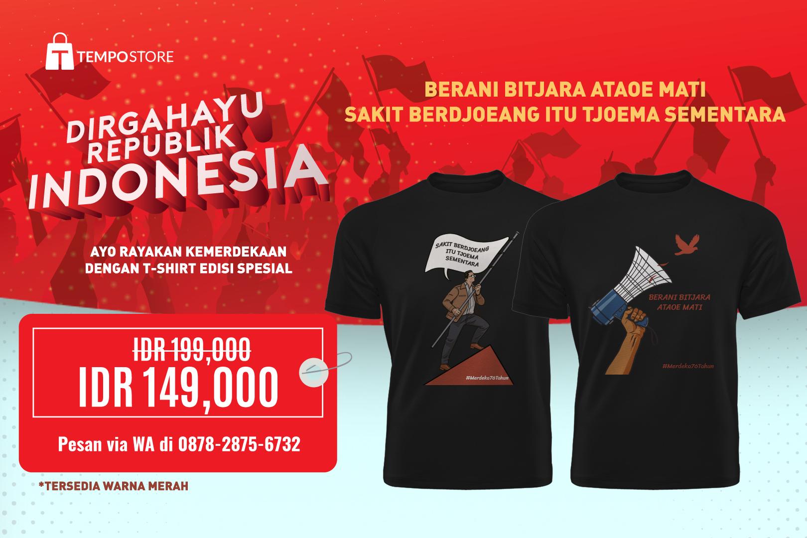 T-shirt Edisi Kemerdekaan (S, M, L, XL)